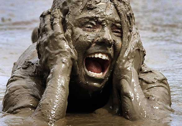 muddy slip