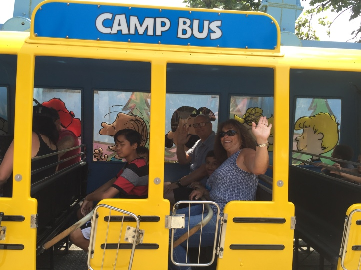 Camp Snoopy bus